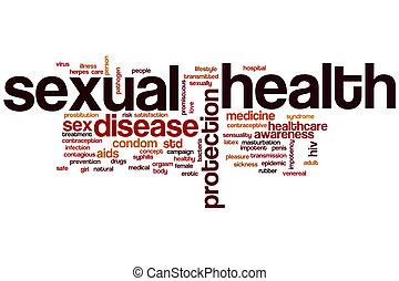 Nube de palabra de salud sexual