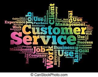 Nube de palabra de servicio al cliente