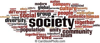 Nube de palabra de sociedad