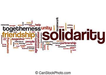 Nube de palabra de solidaridad