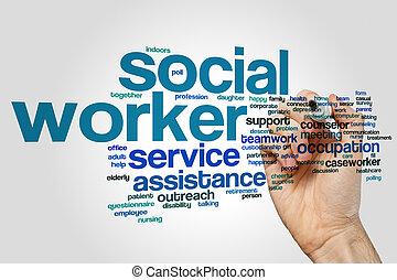 Nube de palabra de trabajador social