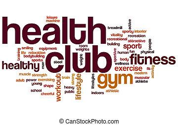 Nube de palabra del club de salud