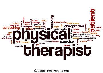 Nube de palabra fisioterapeuta