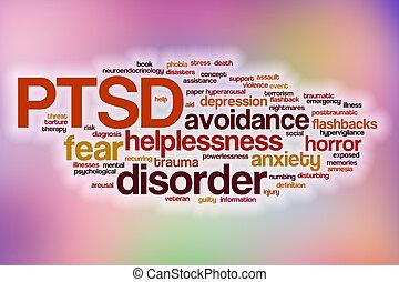 Nube de palabra PTSD con antecedentes abstractos