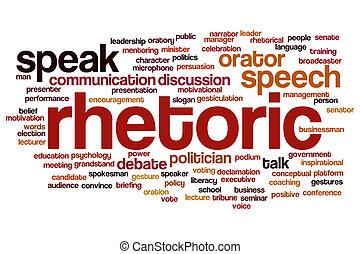 Nube de palabra retórica