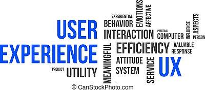 Nube de palabras, experiencia de usuario