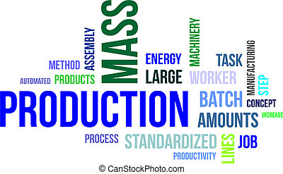 Nube de palabras, producción en masa