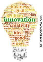 nube, etiqueta, innovación, concepto, tecnología