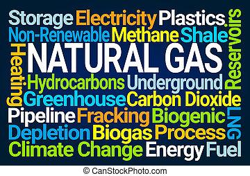 nube, gas natural, palabra