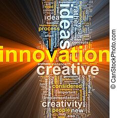 nube, innovación, palabra, encendido