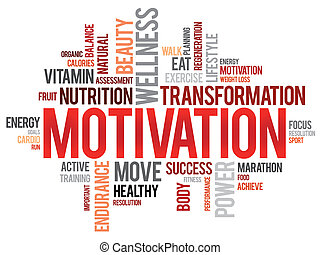 nube, motivación, palabra