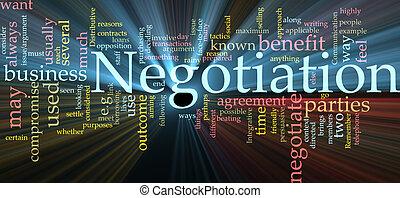 nube, negociación, encendido, palabra