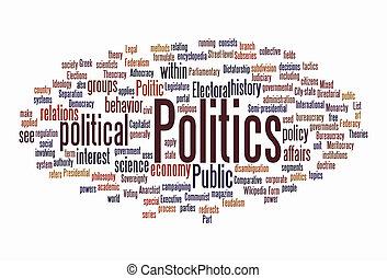 nube, política, texto