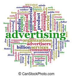 nube, publicidad, palabra