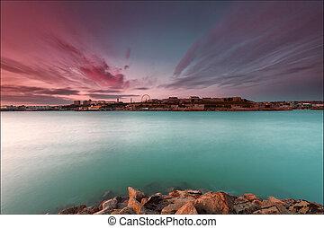 Nubes de plymouth