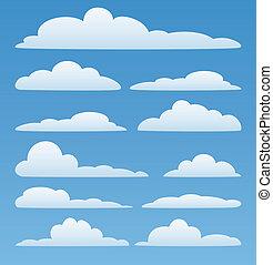 Nubes del vector en el cielo