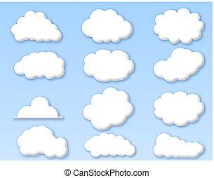 Nubes en el cielo azul nublado