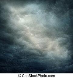 Nubes oscuras y lluvia