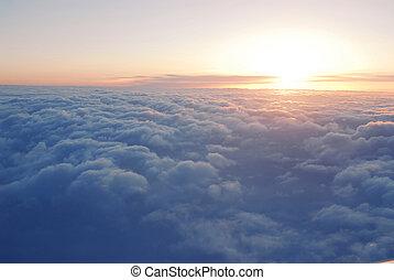 nubes, sobre
