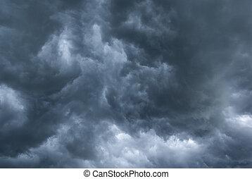 Nubes tormentosas.