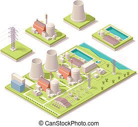 nuclear, isométrico, potencia, facilidad