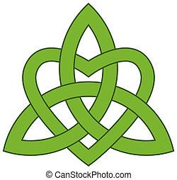 Nudo de trinidad celta (Triquetra)