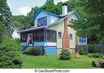 Nueva casa de ensueño americana