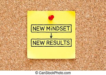 Nueva mentalidad nueva nota pegajosa