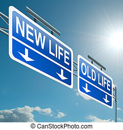 Nueva o antigua vida.