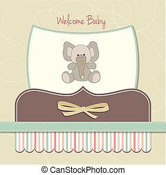 Nueva tarjeta de bebé con elefante