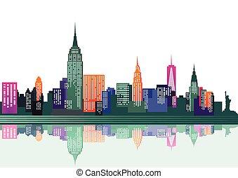 nueva york, colorido