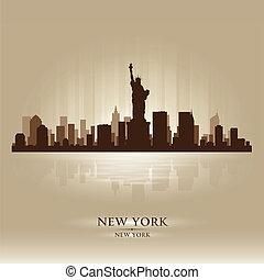 Nueva York Skyline City Silhouette
