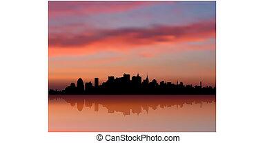 Nueva York, Skyline, fondo de Internet
