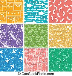 Nueve patrones sin costura