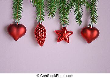 nuevo, árbol, decorations., navidad., luz, tarjeta, alegre, marca, year., navidad, toys., decoración, deseo, mood., holiday:, esperar, decoración, dulce, decoraciones, feliz, fondo., wish., list., festivo, holiday.