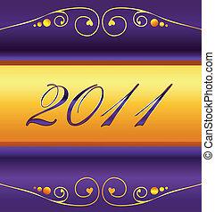 nuevo, 2011, tarjeta, años