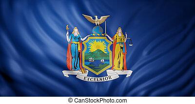 nuevo, bandera del estado, york