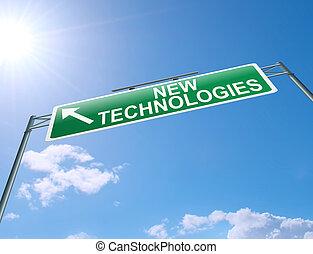 Nuevo concepto de tecnología.