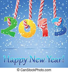 nuevo, feliz, fondo., 2013, año
