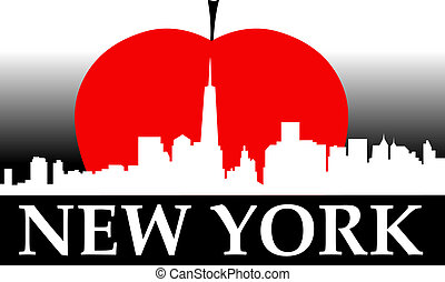 nuevo, manzana, grande, york