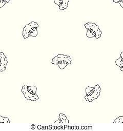 Nuevo patrón de brócoli vector sin costura