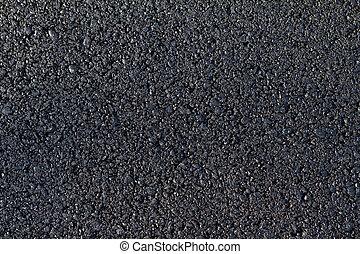 nuevo, puesto, camino, asfalto