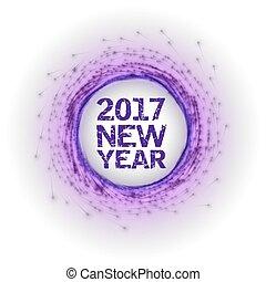 nuevo, resumen, fuegos artificiales, año