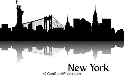 nuevo, silueta, york