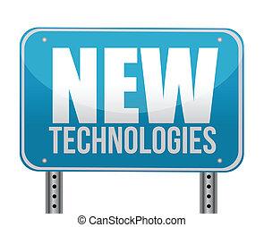 nuevo, tecnologías, concepto, señal