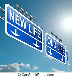 nuevo, viejo, o, life.
