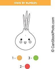 numbers., kawaii, colorido, cebolla, lindo, página