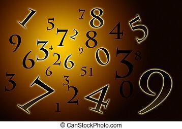 numerología, antiguo, (the, science).