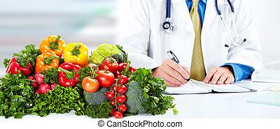 nutricionista, doctor, hombre