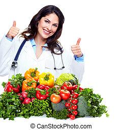 nutricionista, médico de mujer